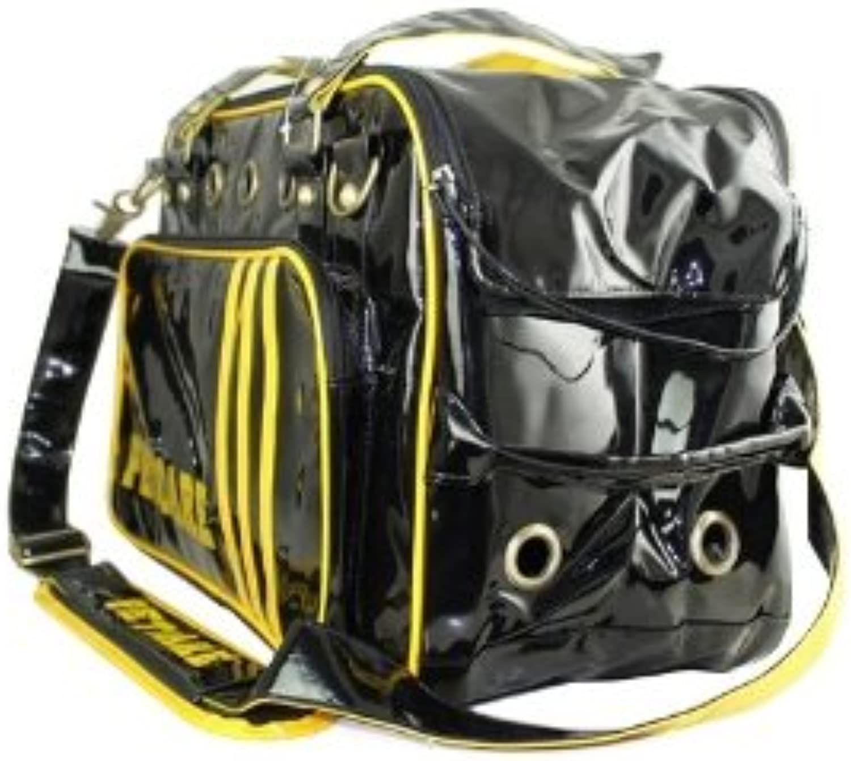 Petcares PVC Polyester Webbing Pet Dog Carrier Bag (Black)