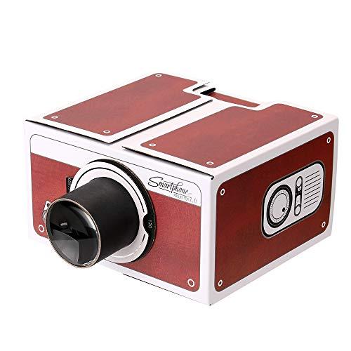 docooler, Mini proiettore per Smartphone, Cinema portatile, per uso domestico, proiettore in cartone, proiettore fai-da-te, per l'intrattenimento familiare