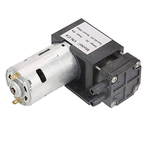 42W Mini Oilless Vakuumpumpe Kompressorpumpe Vakuumsaugluftstrom (DC24V 85KPa 40L / min)