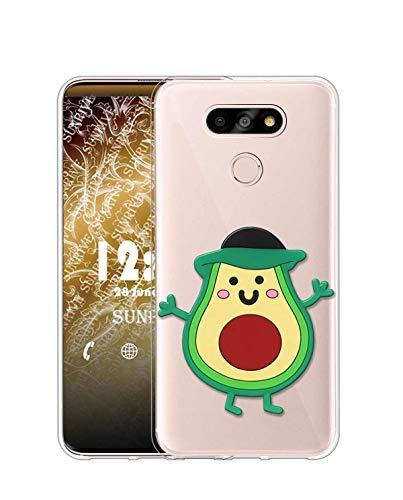 Sunrive Kompatibel mit LG G5 SE Hülle Silikon, Transparent Handyhülle Schutzhülle Etui 3D Case (A1 Avocado)+Gratis Universal Eingabestift MEHRWEG