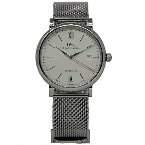 IWC MEN'S 40MM STEEL BRACELET & CASE AUTOMATIC SILVER-TONE DIAL WATCH...