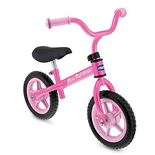Chicco Pink Arrow Bicicletta Bambini Senza Pedali 2-5 Anni, Bici Senza Pedali Balance Bike per l'Equilibrio, con Manubrio e Sellino Regolabili, Max 25 Kg, Rosa, Giochi Bambini 2-5 Anni