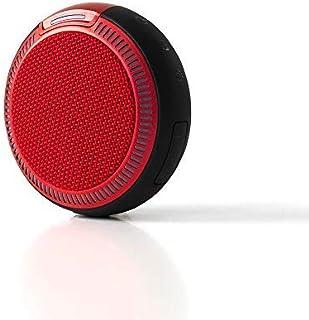 iina-style Bluetooth スピーカー 防水 IPX5 高音質 iPhone8 iPhoneX 対応 スポーツ アウトドア Bluetooth ハンズフリー通話 BT Ver 4.1 ワイヤレス スピーカー (レッド)