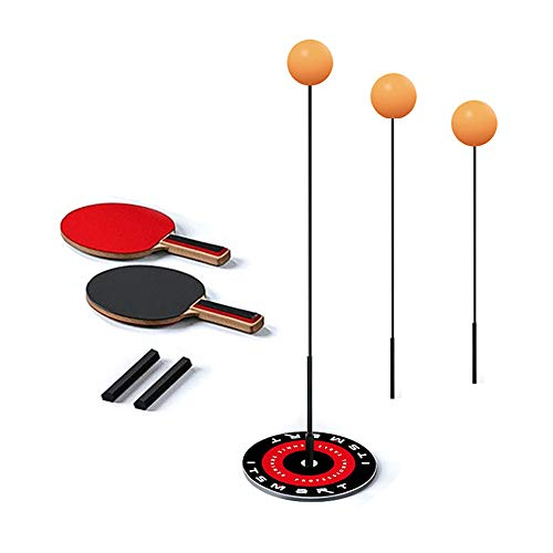 Best Review Of XMRSOY Table Tennis Trainer with Elastic Shaft,Indoor Activity Improve Myopia Ping Po...