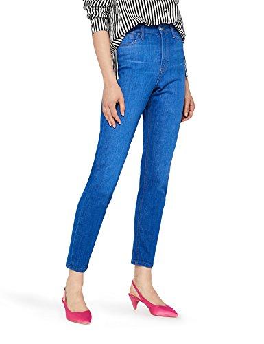 FIND NEWSTW048 vaqueros mujer cintura alta,, Azul (Mid Vintage), W33/L32 (Talla del Fabricante: 42/44)