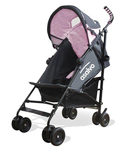 asalvo 11213.0 Babybuggy Yolo, grau / rosa