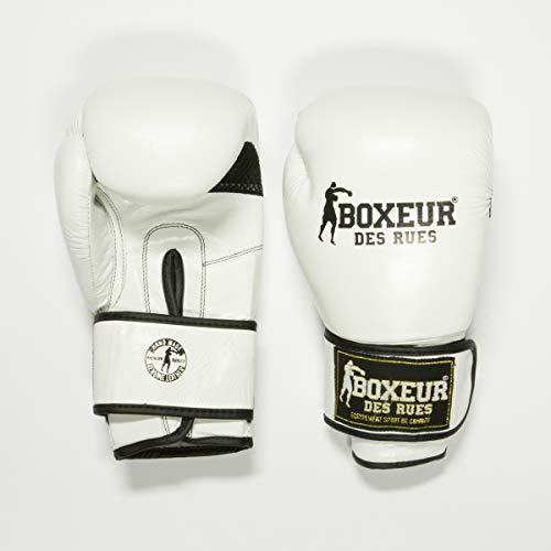 BOXEUR DES RUES Gants de Boxe Classiques Blanc Blanc 283 g