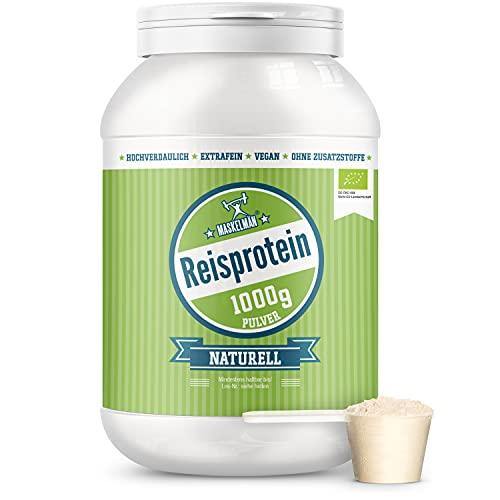 Bio Reisprotein (1000g) - Eiweißpulver - Veganes Protein Pulver - 83% Protein - Glutenfrei - ohne Zusätze - Ideal für Low Carb, Paleo und Keto