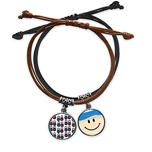 Bestchong Matrjoschka-Armband für Jungen und Mädchen, Matroschka, Lederarmband, lächelndes...