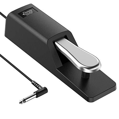 Donner Universal Sustain Pedal Dämpferpedal für digitale Klaviere, elektronische Keybords (DSP-002)
