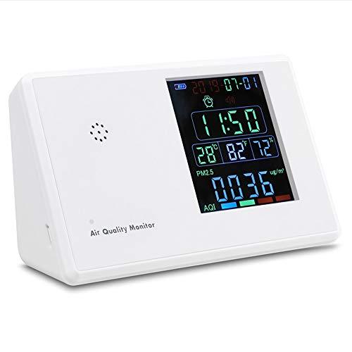 Kecheer Luftqualität-Messgerät Formaldehyd(HCHO)-Messgerät,Digital Formaldehyd Detektor Hygrothermograph Wecker Kohlendioxid Tester Luftqualitätsmonitor Gasanalysator