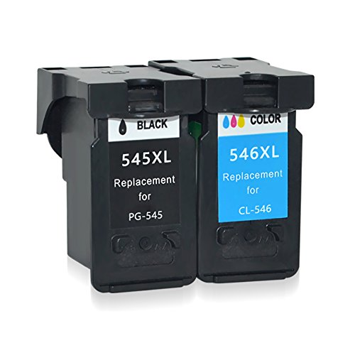 befon PG545CL546cartuchos de tinta remanufacturados para Canon PG-545cl-546XL color negro pack de 2Compatible para Canon Pixma mg3050255024502950MX495IP2850