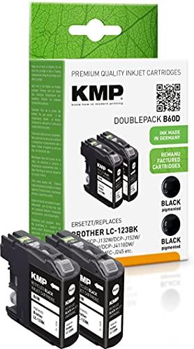KMP LC-123 Parent - Cartucho de Tinta para Impresora, Color Negro 2 Unidad