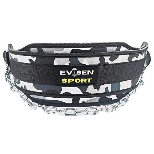 Cinturón Lastre para Dominadas, Dips, Pesas - Cinturón Lumbar Gimnasio para Gym, Crossfit, Halterofilia, Boxeo