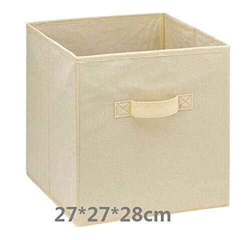 Foldable Fabric Storage Cube Storage Box Sundries Storage bin Collapsible Cloth Organizer Baskets Folding Nursery Closet Drawer,27x27x28cm-14