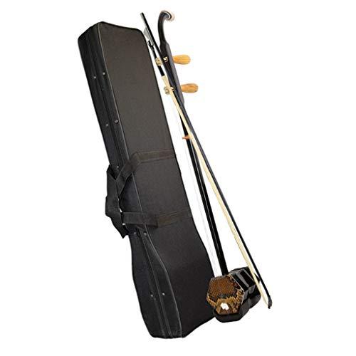 Erhu Chinesisches Musikinstrument Anfänger Erwachsene Kinder Spielen Professionelles Spielen Handgemachte Musikinstrumente Volksmusikinstrumente (Color : Brown, Size : 82cm)
