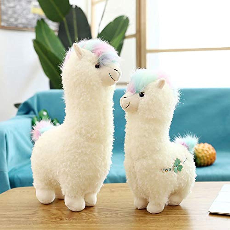 GGsmd Morbido Peluche Giocattolos Alpaca Peluche Giocattoli Regali per I Bambini per Plaautoe I Giocattoli 46Cm (0,44 kg) Bianco