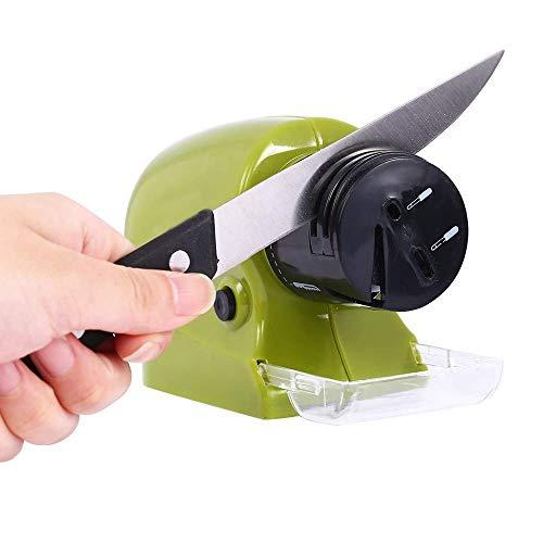 Dhruheer Motorized Knife Blade Sharpener/Knife, Scissors & Screw-Driver Sharpener/Blade Sharpener/Kitchen Tools, Green