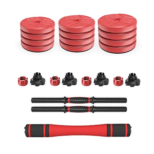 Juego de mancuernas extraíbles para el aire libre para ejercicios de fitness, para el hogar, 20/30 kg (color: rojo, tamaño: 30 kg)