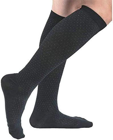 Absolute Men Los Angeles Mall Microfiber Pin Dot 15-20mmHg Dress Sock Pattern Sma Popular standard