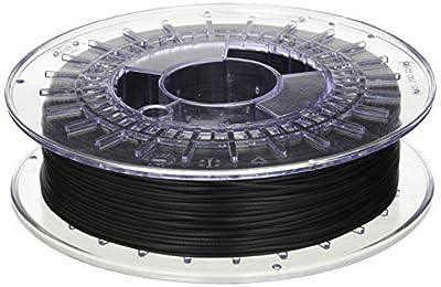 Recreus Elastic Filament for 3D Printer, 1.75 mm, 500 gr, 1 lb, Black