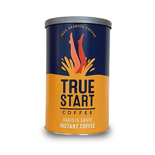 TrueStart Barista Grade Instant Coffee - 100g (50 Cups) | Premium Freeze Dried Coffee | Smooth Rich Roast | 100% Colombian Arabica Coffee