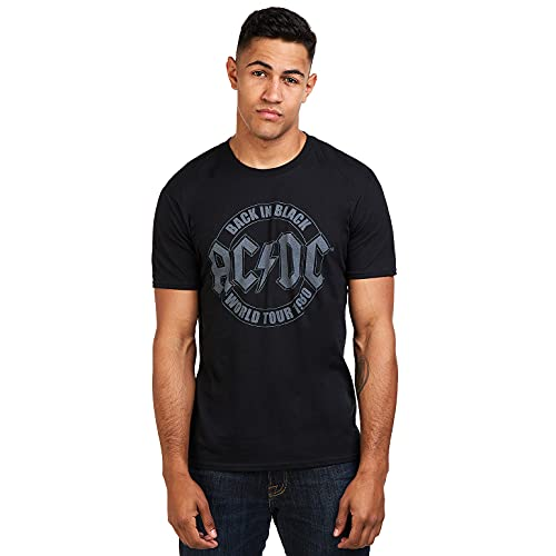 AC/DC Herren Tour Emblem T-Shirt, Schwarz (Schwarz Schwarz), XL