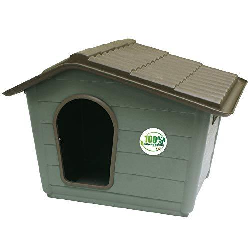 CROCI VILLA, Cuccia per cani, Cuccia in materiali riciclati, Tetto asportabile, Dimensioni 60X50X41...