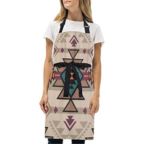 VICAFUCI Delantal,Color Retro Tribal Navajo Azteca Fantasía Abstracto Geométrico Étnico,Babero de Cocina Unisex con Cuello Ajustable para cocinar jardinería,tamaño Adulto