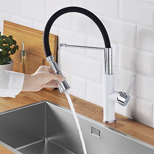WOOHSE armatura kuchenna z kranem, armatura zlewozmywakowa, obracana o 360°, armatura do kranu z dwoma trybami wypuszczania wody, bateria mieszakowa do zlewozmywaka