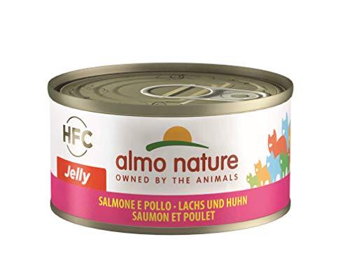 almo nature HFC Jelly Katzenfutter nass -Lachs und Huhn 24er Pack (24 x 70g)