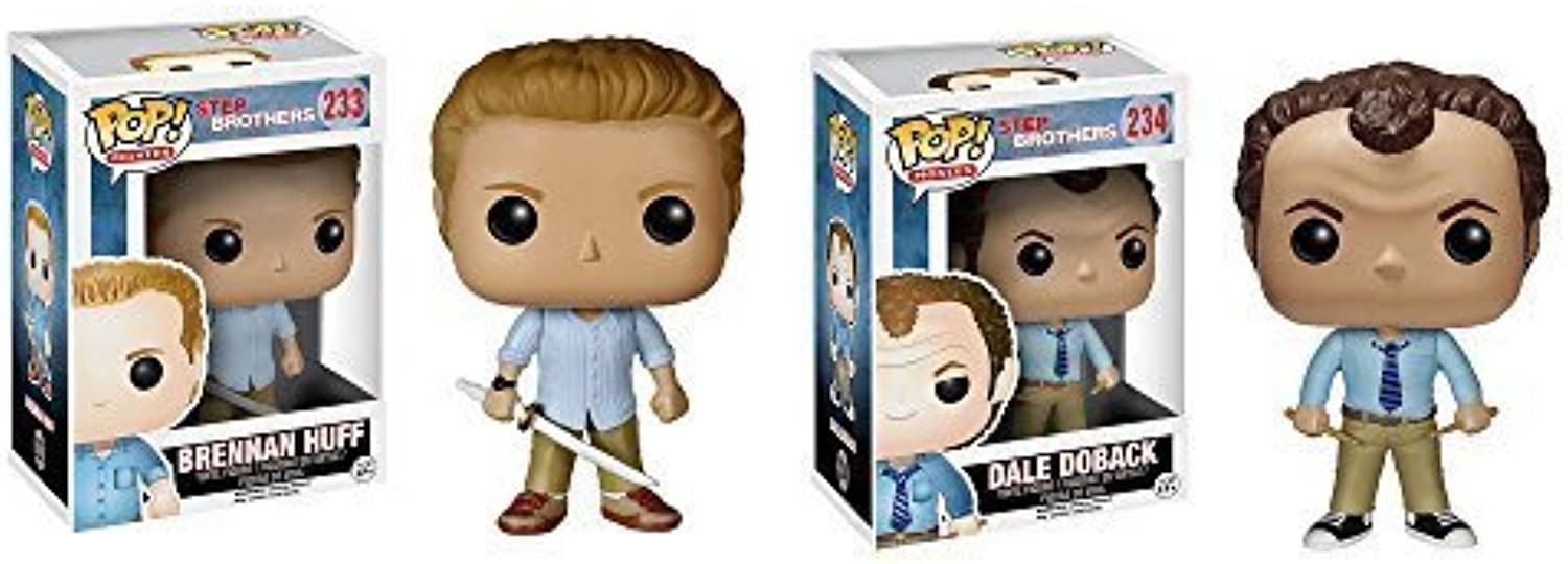 Step Brothers Brennan Huff, Dale Doback Pop  Vinyl Figures Set Of 2 by Step Brothers
