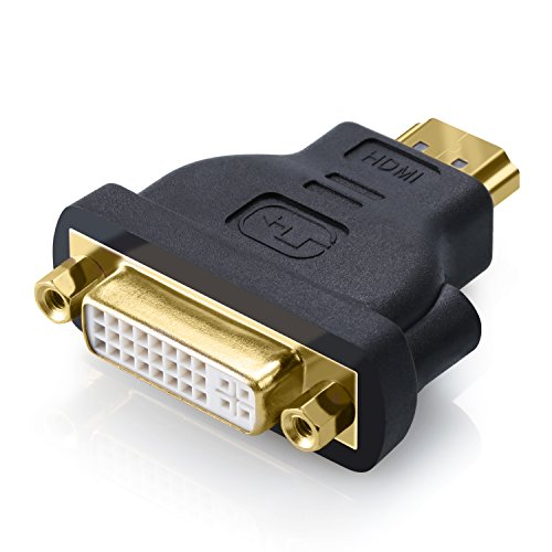 CSL - 2160p DVI-D zu HDMI Adapter bidirektional - DVI-D to HDMI Adapter - DVI-D Buchse Dual - Link 24 5 HDMI-Stecker Typ A 19 Pin - UHD 2160p Full HD 1080p