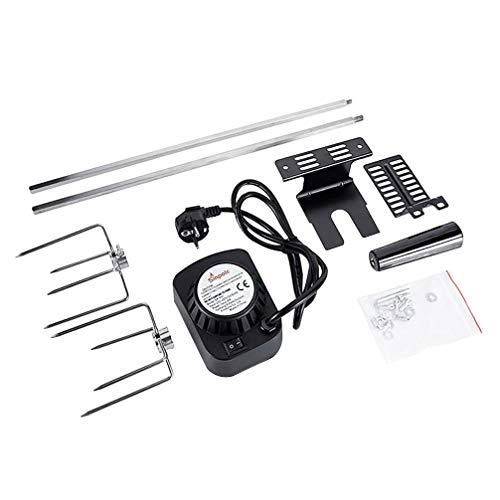 Yarnow Electric Searing Grill Automatic BBQ Rotisserie Kit Battery Powered Roasting Sticks Smart Rotating Skewers for Grilling Marshmallow Hot Dog Chicken Steak