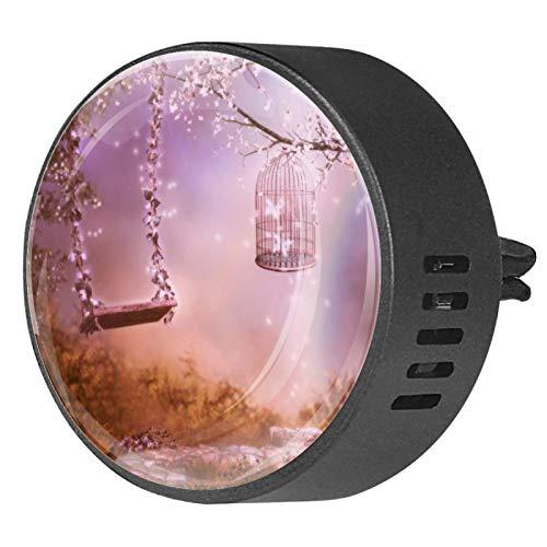 2 piezas Difusor de aromaterapia Difusor de aceite esencial de coche Clip de ventilación Flor de loto ()