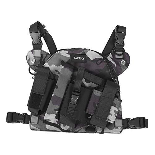 Socobeta Chest Rig Bag Adjustable Shoulder Pack Walkie...