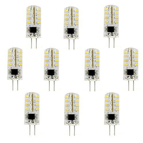 Bombillas LED Bombillas LED G4 Spot Light 2.5W 32 * 3014SMD 180LM Blanco cálido/blanco frío (AC220V) 10pcs para el hogar, la escuela, la oficina (Color : Warm White)