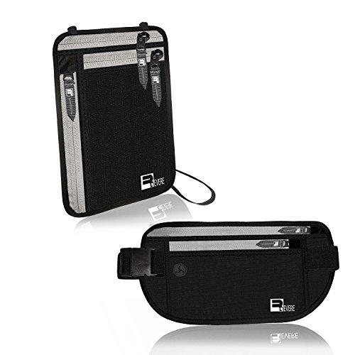 RFID Reise Geldgürtel + Brustbeutel mit RFID-Blockierung für Damen und Herren