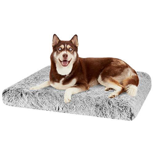 BingoPaw Cama Perros Medianos,Colchon Perro Impermeable Sofa Perro Desenfundable Colchoneta Perro Lavable y Antideslizant Espuma Viscoelastica Memoria Cubierta con Pelo de Lujo Suave (XL) 85x57x10cm