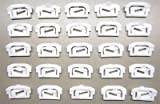 The Parts Place GM F Body Rear Window Molding Clip Kit - Pieces