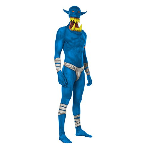 Morphsuits ML Orbx - Costumi Blu Orco Jaw Dropper Morphsuit Adulti XL 5 Pollici 9-6 Pollici 1, 180 cm - 186 cm, XL, Multi