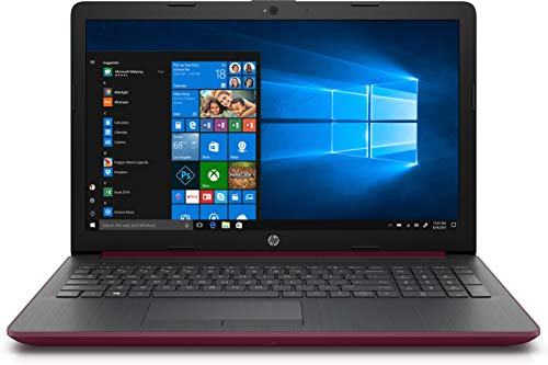HP High Performance Laptop PC 15.6-inch HD Display AMD E2-9000e Processor 4GB DDR4 RAM 500GB HDD WiFi HDMI Bluetooth Webcam Sleeve&Mouse Windows 10 (Maroon Burgundy)