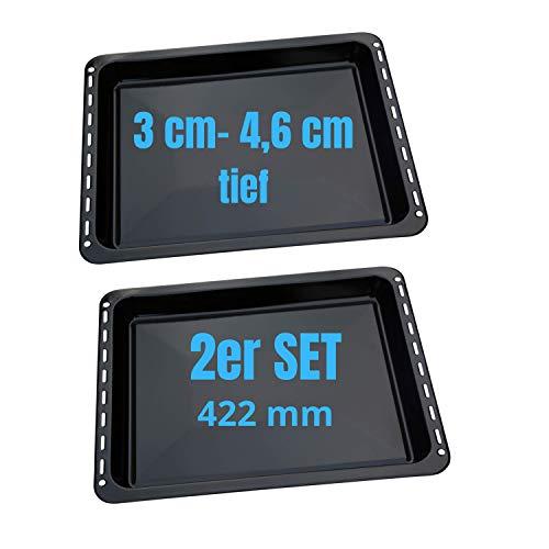 SPARSET 422x370x46 und 31 mm AEG Electrolux mit 2 Backbleche Backblech Fettpfanne emailliert für Electrolux AEG Juno Zoppas Zanussi Teile Nr. 3531939233/353193921-7