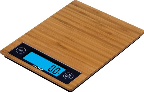 Salter Eco Friendly Bamboo Kitchen Scale (11-Pound)