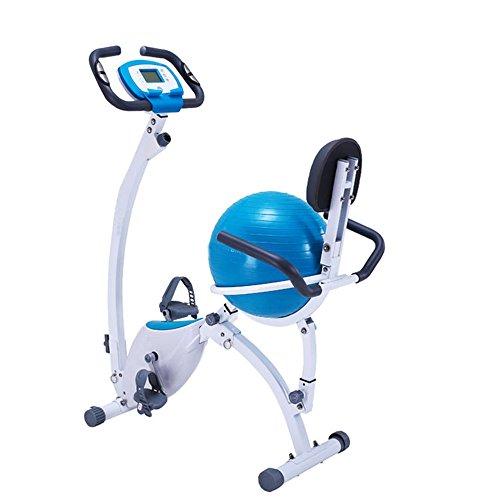 Melodycp Home Magnetic Control Car Ribbon Car Office Fitness Pieghevole Controllo Magnetico Rotante Bicicletta Rotante prismatica - Cuscino Yoga Ball