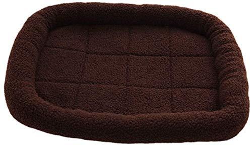 Cama de mascotas Antideslizante Cashmere Soft Pet Bed Dog Mat Kennel Cat Mascotas Cojines para perros Cama para perros Otoño e invierno Casa de algodón caliente Casa Pet Supply Nest Anid (Color: Gris,