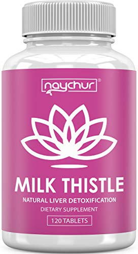 Milk Thistle Liver Cleanse - Detox Cleanse Liver Support - Cardo Mariano Milk Thistle Extract Seed Powder (80% Silymarin) - Alcohol Detox Liver Care Health Fatty Liver Supplement - 120 Capsules