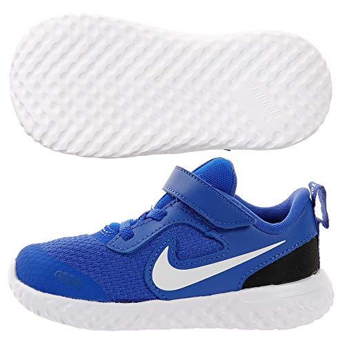 Nike Revolution 5, Scarpe da Campo e da Pista Unisex-Bambini, Multicolore (Racer Blue White Black 401), 29.5 EU