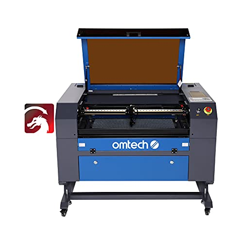"""OMTech Upgraded 60W CO2 Laser Engraving Cutting Machine, 20"""" x 28"""" Laser Engraver with DSP Control System and LightBurn Software, Compatible with Windows, Mac OSX, Linux(MF2028-60)"""