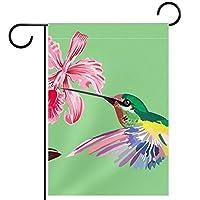 ホームガーデンフラッグ両面春夏庭屋外装飾 12x18in,花鳥